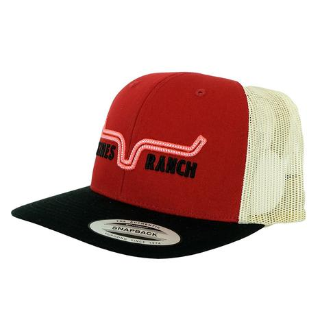 Kimes Ranch Oxbow Trucker Red Meshback Cap