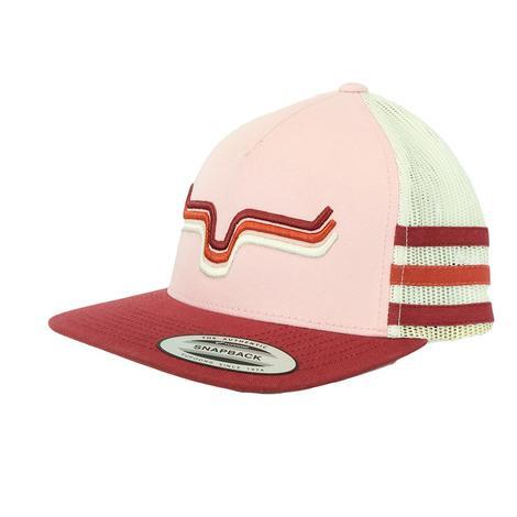886ad2936c9bb Kimes Ranch Rhythm Trucker Pink Red Melon Meshback Cap