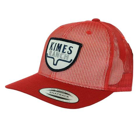 Kimes Ranch Ranger Trucker Red Meshback Cap