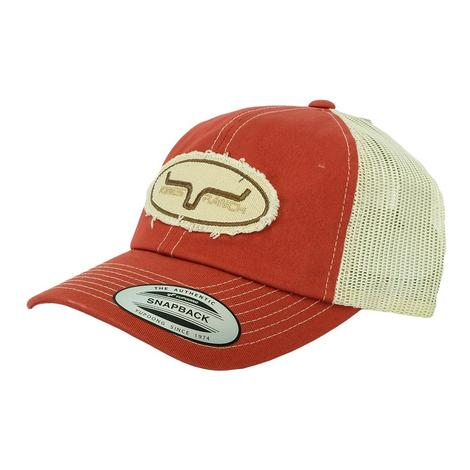 Kimes Ranch Shredful Cayenne Pepper Circle Patch Meshback Cap