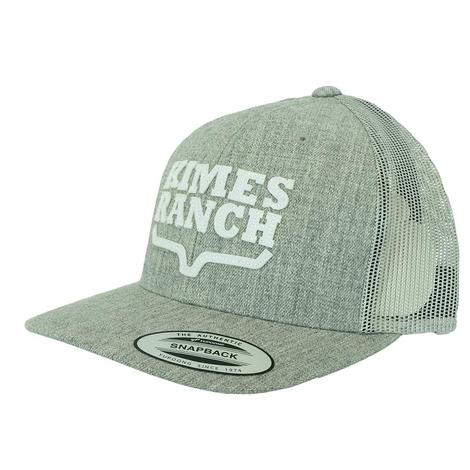 Kimes Ranch Stacked Trucker Grey Meshback Cap