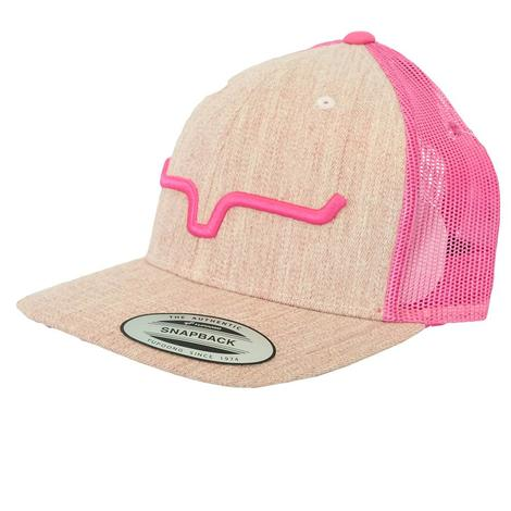 Kimes Ranch Kimes Ranch Weekly Trucker Pink Heather Meshback Cap