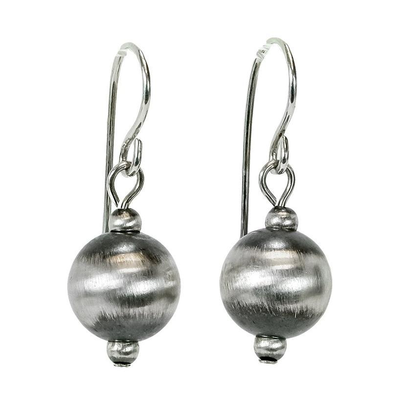 Large Navajo Pearl Drop Silver Earrings