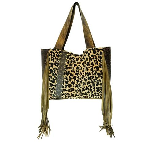 Leopard Luis Vuitton Strip Stella Tote