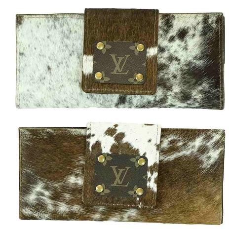 Cowhide Luis Vuitton Patch Wallet