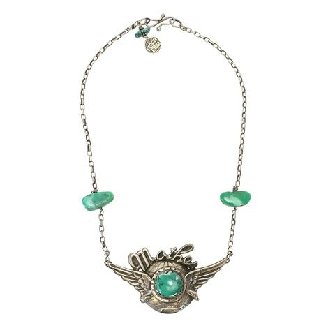 Sweet Bird Studio Mother Earth Silver and Turquoise Choker