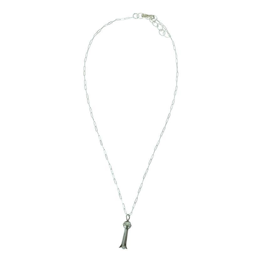 Sterling Silver Mini Blossom 17.5 Inch Necklace