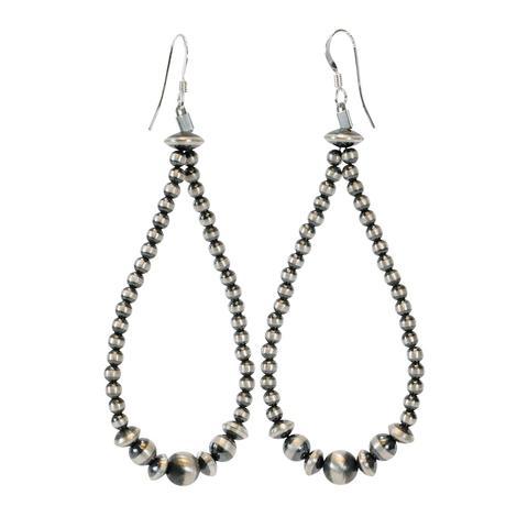 Navajo Pearl Medium Drop Earrings