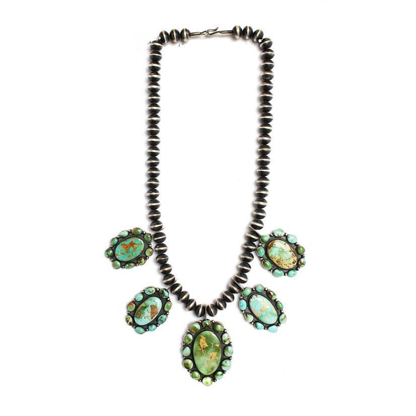The Jefferson Five Set Turquoise Medallion Necklace