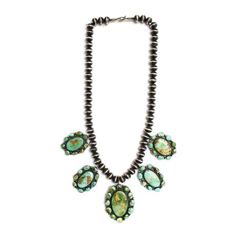The Jefferson Five Set Turquoise Medallion Necklace