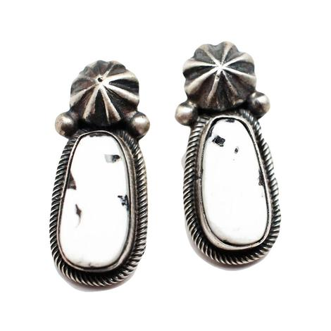 The Millies White Buffalo Earrings