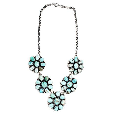 The Alex Five Cluster Turquoise Necklace
