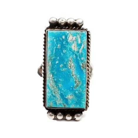 The Warner Rectangle Turquoise Ring