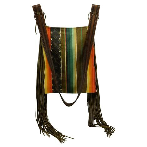 Navajo Luis Vuitton Strip Hazel Crossbody Bag