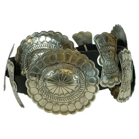 Rainbow Design Silver Concho and Bow Belt