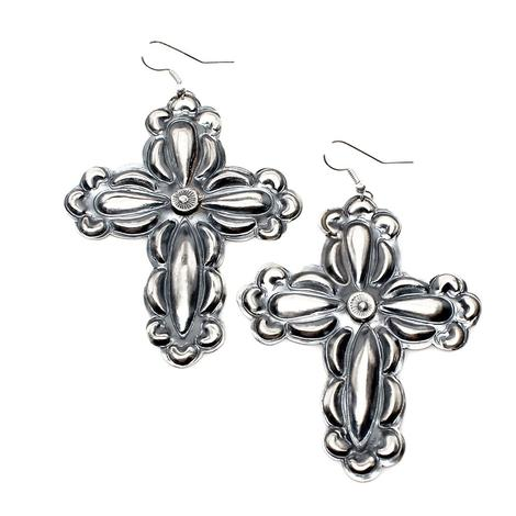 The Cynthias Sterling Silver Cross Earrings