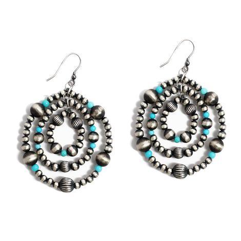 The Sandelas Navajo Pearl and Turquoise Earrings