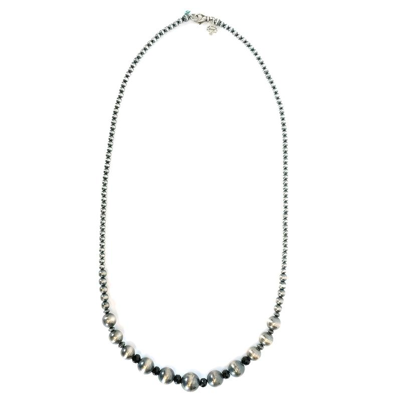 Navajo Pearl And Black Onyx Necklace