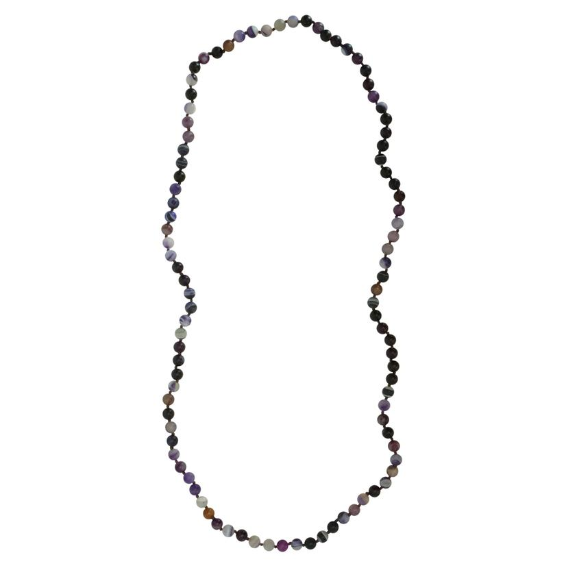 Multi Stone 8mm x 36inch Beaded Necklace - Assorted PURPLE