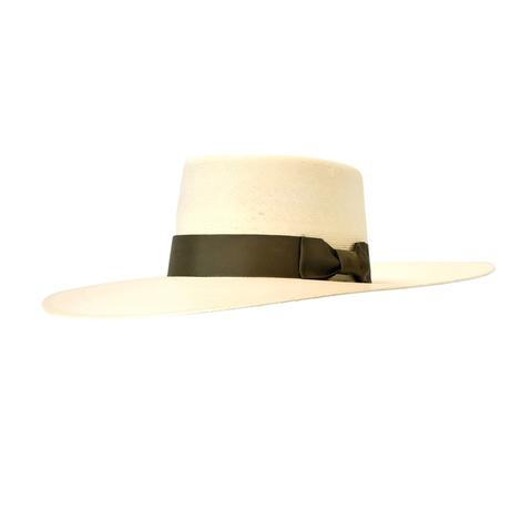 Buckaroo Straw Hat with Brown Ribbon by Atwood Hat Co