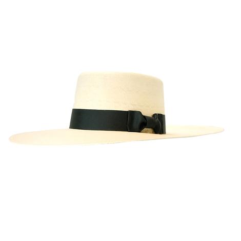 Buckaroo Straw Hat with Black Ribbon by Atwood Hat Co