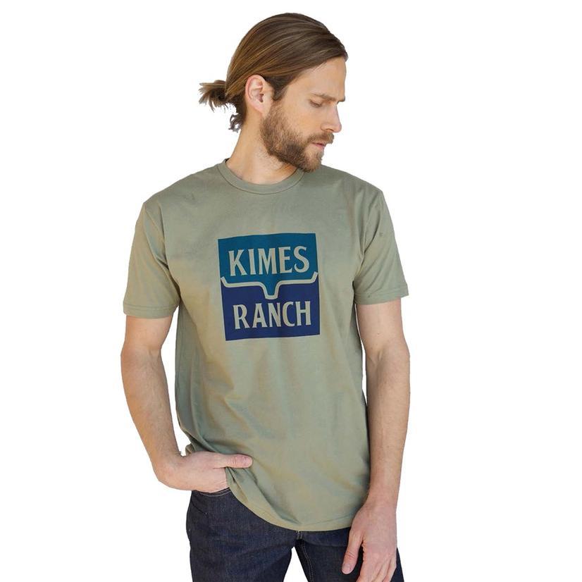 Kimes Ranch Color Block Graphic Blue Navy Men's Tee