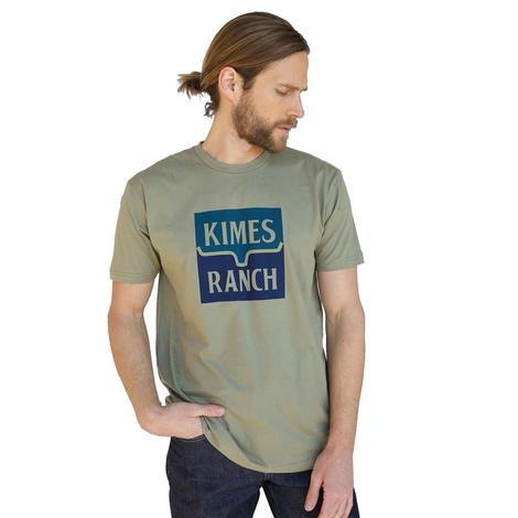 Kimes Ranch Color Block Graphic Blue Navy Men's Tee