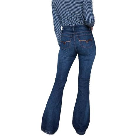 Kimes Ranch Jennifer Dark Wash High Rise Super Flare Jeans