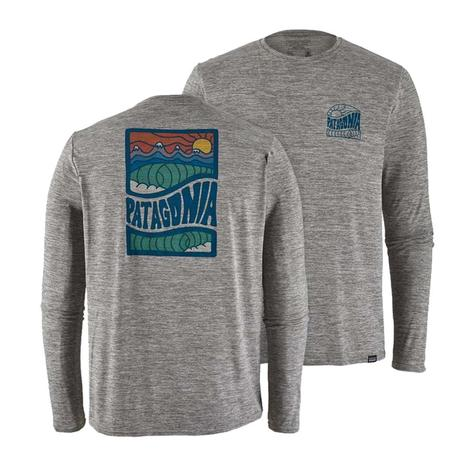 Patagonia Cosmic Peaks Feather Grey Long Sleeve Men's Shirt
