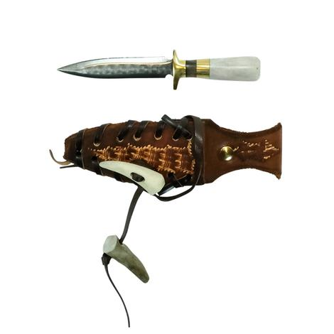 STT Antler and Brown Handle Knife 6