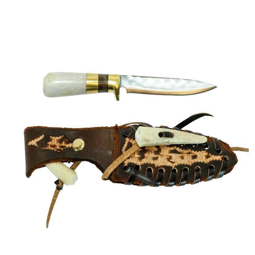 Stt Antler And Brown Handle Knife 8
