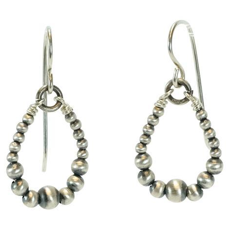 Navajo Pearl Hoop Small Earrings