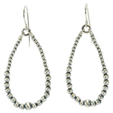 Navajo Pearl Large Hoop Earrings