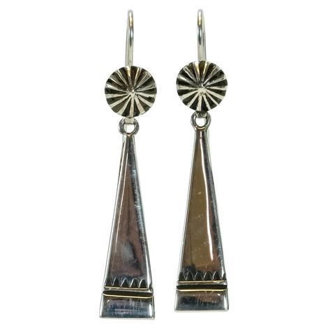 Sterling Silver Slender Windmill Earrings