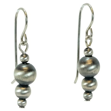 Navajo Pearl Drop Medium Earrings