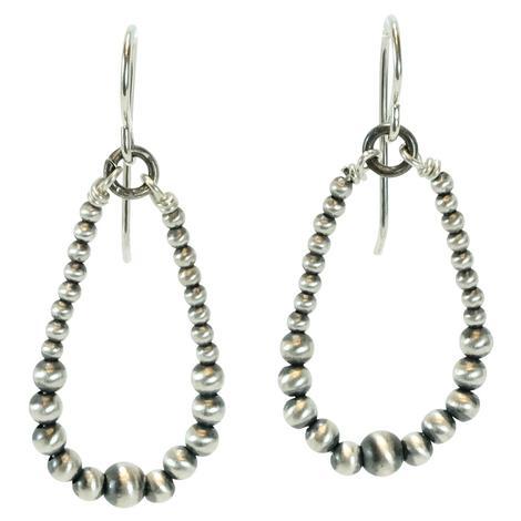 Sterling Silver Navajo Pearl Drop Earrings