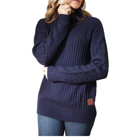 Kimes Ranch Navy Mosey Women's Sweater