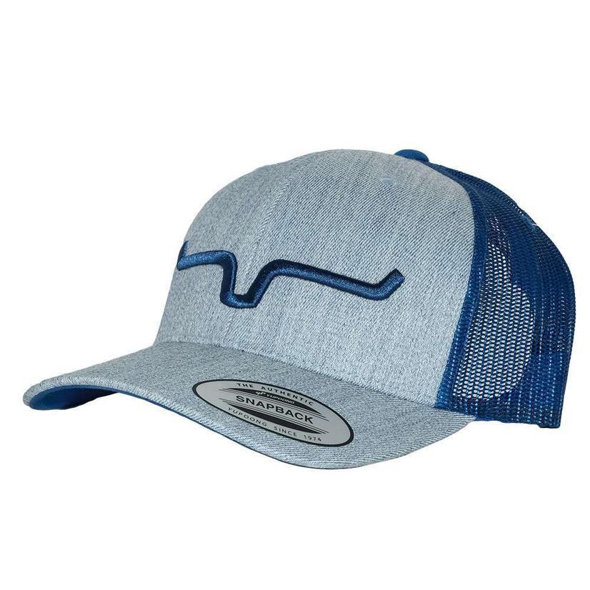 cbe67857da23d Kimes Ranch Weekly Trucker Blue Heather Meshback Cap