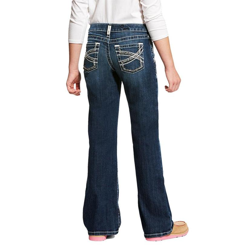Ariat Real Boot Cut Entwined Girl's Jeans Size 7- 14