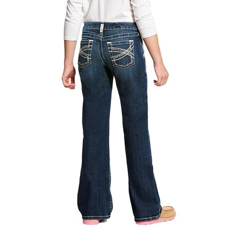 Ariat REAL Boot Cut Entwined Girl's Jeans Size 7-14