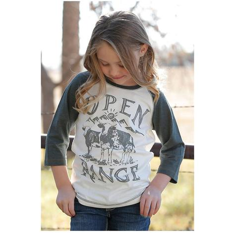 Cruel Girl Open Range Girl's Baseball Tee