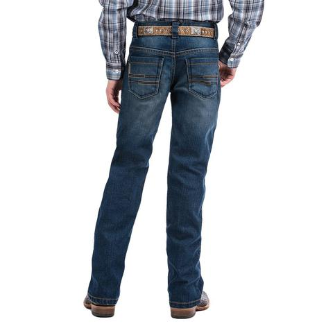 Cinch Slim Fit Stonewash Boy's Jeans Size 8-16