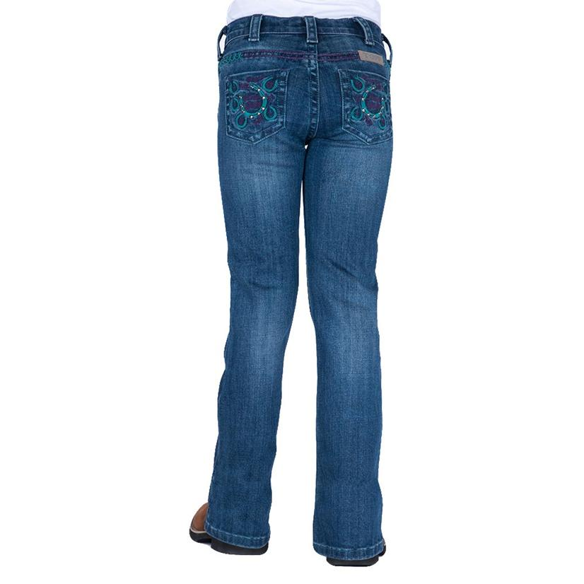 Cowgirl Tuff Double Lucky Purple Bootcut Girl's Jeans