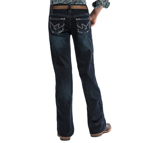 Cruel Girl Lucy Slim Fit Youth Dark Wash Girl's Jean Size 7-16