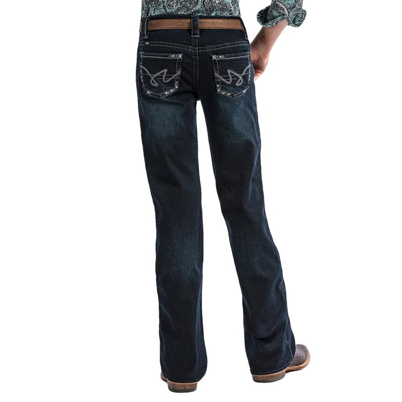 Cruel Girl Lucy Regular Fit Youth Dark Wash Girl's Jeans Size 7- 16
