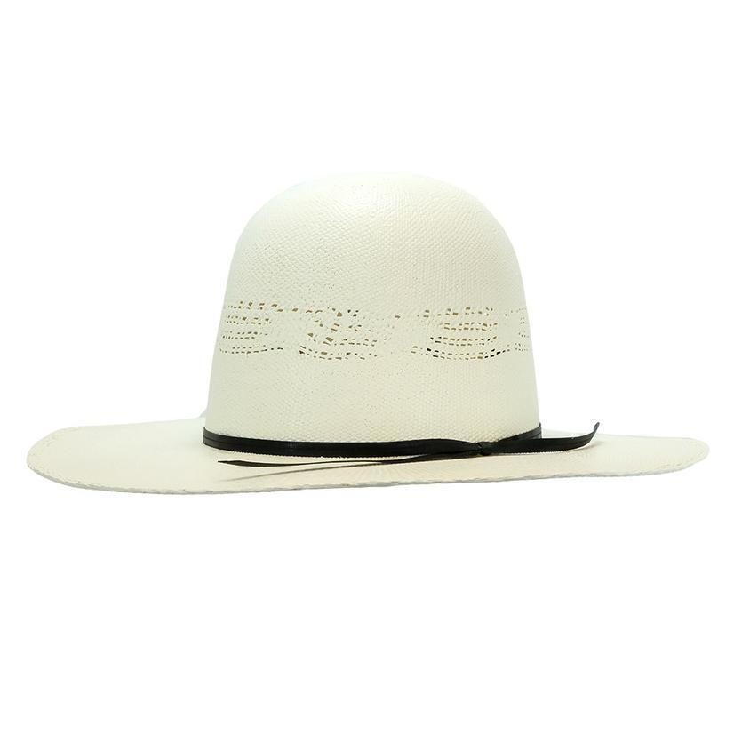 Rodeo King Ivory Bangora Open Crown Straw Hat 3.5in Brim