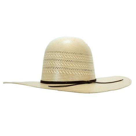 Rodeo King Triple Time Open Crown Natural Straw 4.5in Brim