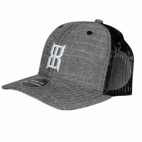 BEX Slub Grey Black 3D Front Logo Meshback Cap