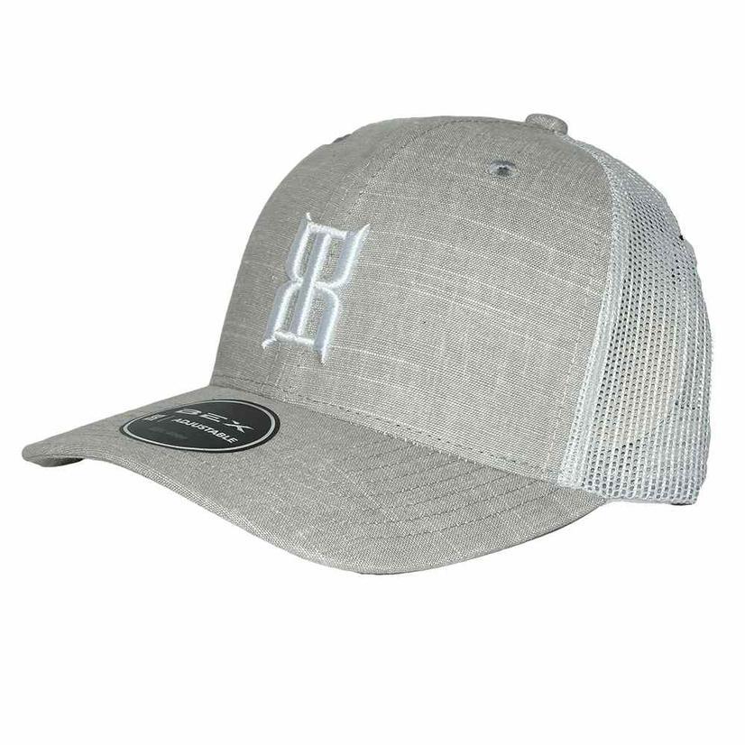 Bex Slub Grey 3d Front Logo Meshback Cap