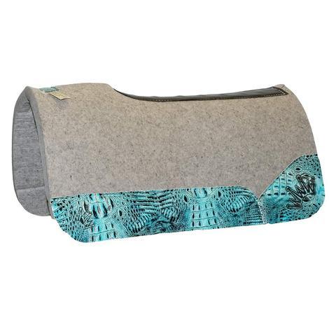 Kush Sea Crocodile Turquoise Wear Leather Pads